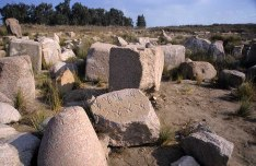 Photo: Norbert Schiller, stones with pharaonic inscription.