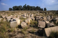 Photo: Norbert Schiller, pharaonic temple stones scattered around.