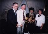 Pope Shenouda with Professor & Mrs Otto Meinardus and Drs Cornelis Hulsman