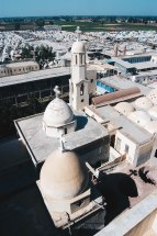 Photo: A.Krause-laif, aerial view of the Monastery of St. Dimyana.