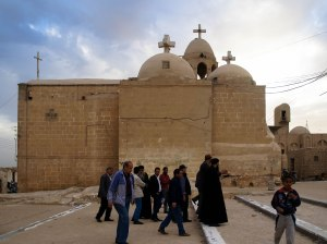 Photo: Shangyun Shen, backside of the Church of the Holy Virgin at Gabal al-Tayr.