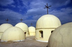 Photo: Norbert Schiller, crosses on the domes above the church at Daqadus.