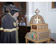 Photo: online image, Pope Tawadros visiting Church of the Holy Virgin at Zaytun