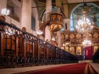 Photo: Paul Perry, the interior of the Church of St. Mark that housed the Coptic Orthodox patriarchate from 1850's until 1968, when the new patriarchate in Abassiya, Cairo, was inaugurated.