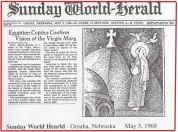 Photo: online image, headline of an English newspaper.