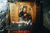 "Photo: Shangyun Shen, an icon inside the ""Holy Cave""."