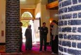 Photo: Paul Perry, pillars inside the Church of Anba Sarabam at Dayrut Al–Sharif.