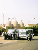 Photo: Cornelis Hulsman, the three domes of the Church of the Holy Virgin at Maadi.