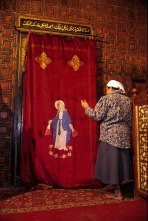 Photo: Norbert Schiller, the curtain of the mian sanctuary in the church at Maadi.