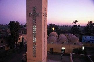 Photo: Norbert Schiller, sunset over the Church of St. George at Ishnin al-Nasara.