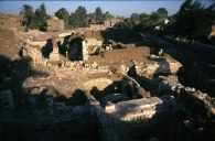Photo: Norbert Schiller, ruins of a church beneath a Muslim cemetery at al-Bahnasa