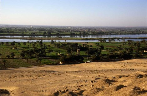 Photo: Norbert Schiller, the Nile Valley near the necropolis of Beni Hasan.