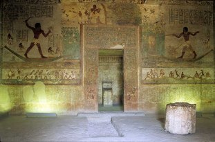 Photo: Norbert Schiller, one of the pharaonic tombs at Beni Hasan.
