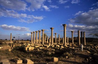 Photo: Norbert Schiller, the colossal Corinthian columns in al-Ashmunayn.