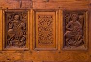 Photo: Coptic Museum, reliefs showing equestrian saints
