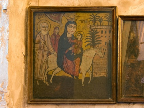 Photo: Coptic Museum, icon showing the Flight of the Holy Family into Egypt.