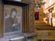 Photo: Coptic Museum, icon of the Virgin Mary.