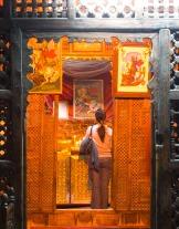 Photo: Coptic Cairo, the faithful praying inside the shrine.