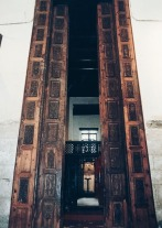 Photo: Coptic Cairo, the huge door in the main hall.