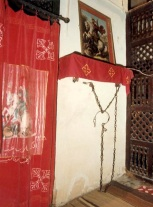 Photo: Coptic Cairo, chains believed to once cuffed St. George.