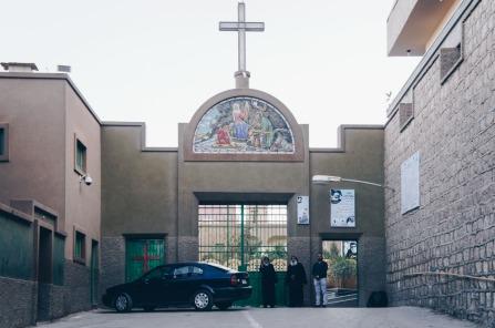 Photo: Shangyun Shen, the main gate to the Monastery of Dayr Durunka.