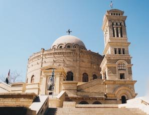Photo: Shangyun Shen, the round Church of Mar Girgis.