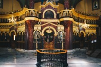 Photo: Shangyun Shen, inside the Church of Mar Girgis.