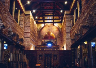 Photo: Shangyun Shen, inside the Church of Abu Serga.