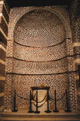 Photo: Shangyun Shen, a ancient baptismal font in the Church of Abu Serga.