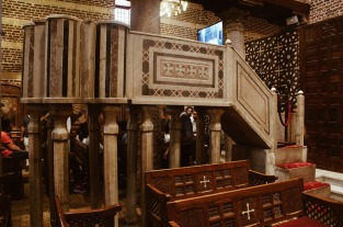 Photo: Shangyun Shen, the pulpit in the Church of Abu Serga.