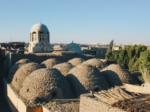 Photo: Paul Perry, domes of the church in Buq.