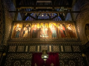 Photo: Shangyun Shen, an icon panel above the iconostasis of the church.